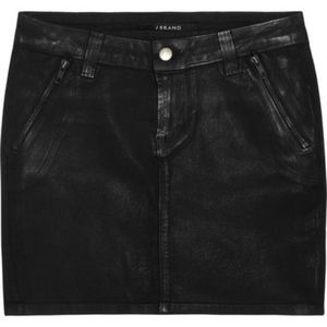 J Brand Black Coated Mini Skirt